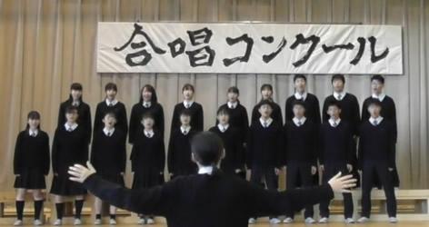 合唱コンクールを開催しました -高校1、2年生-
